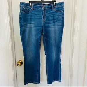 ST JOHNS BAY straight leg denim jeans size 16W